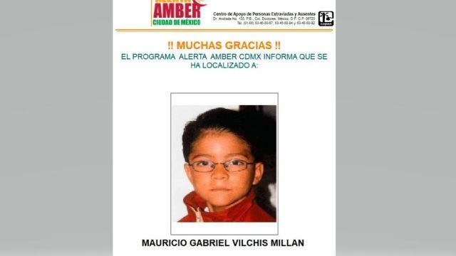 Desactivan Alerta Ámber de Mauricio Vilchis
