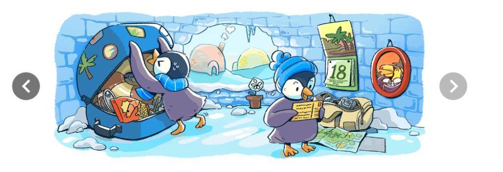 Doodle de Google animado por la Navidad