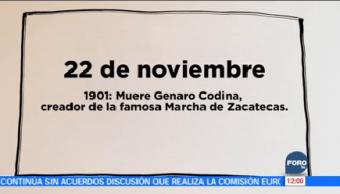 Día Murió Creador Marcha Zacatecas Noviembre