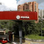 El logo del PDVSA se aprecia en una gasolinera en Caracas, Venezuela