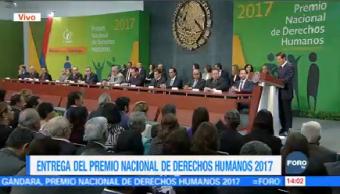 EPN Entrega Premio Nacional Derechos Humanos 2017 Presidente Enrique Peña Nieto