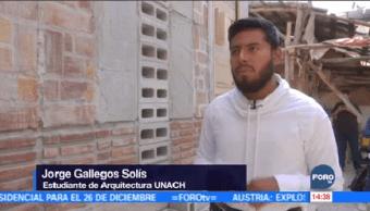 Estudiantes Chiapanecos Construyen Casas Damnificados