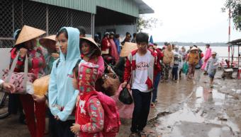Evacuaciones al sur de Vietnam por tormenta tropical Tembin