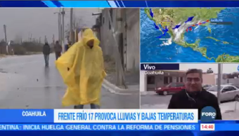 Frente Frío 17 Provoca Nublados Coahuila