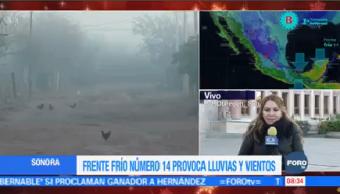 Frente Frío Número 14 Provoca Lluvias Bajas Temperaturas Sonora