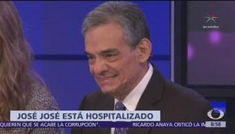 Hospitalizan a José José, lo reportan estable