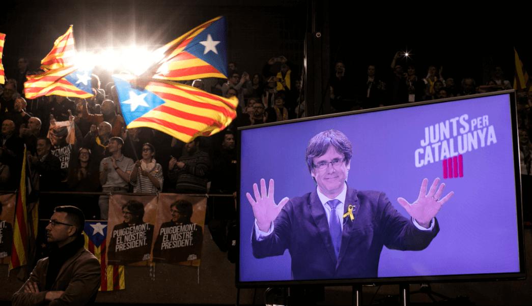 Imágenes de Carles Puigdemont durante la campana