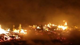 Se incendia una bodega de madera en Ecatepec, Estado de México
