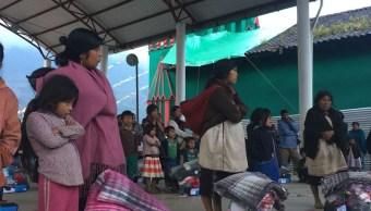 denuncian muerte seis indigenas desplazados chalchihuitan frio hambre