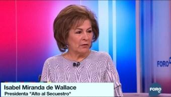 Falta voluntad de gobernadores para abatir secuestros, dice Miranda de Wallace