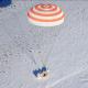 La nave tripulada rusa Soyuz MS-05 aterriza en la estepa kazaja