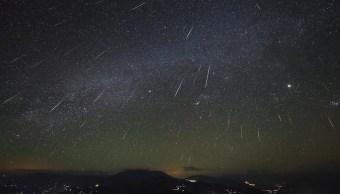 lluvia estrellas geminidas se aprecia popocatepetl