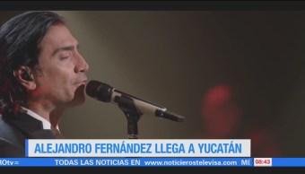 #LoEspectaculardeME: Alejandro Fernández llega a Yucatán