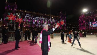 inauguran pista hielo zocalo ciudad mexico
