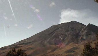 Emite volcán Popocatépetl 441 exhalaciones de baja intensidad