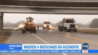 Mueren 4 Mexicanos Accidente Texas Migrantes Guanajuatenses