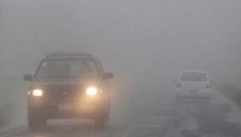 Neblina dificulta la visibilidad en el Circuito Exterior Mexiquense