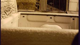 se registran nevadas en municipios de durango