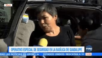 Ofrecen Alimentos Peregrinos Camino Basílica Guadalupe