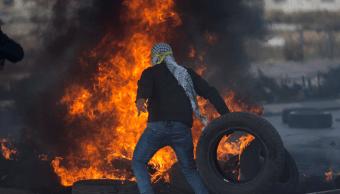 Palestinos protestan contra la decisión de Trump sobre Jerusalén