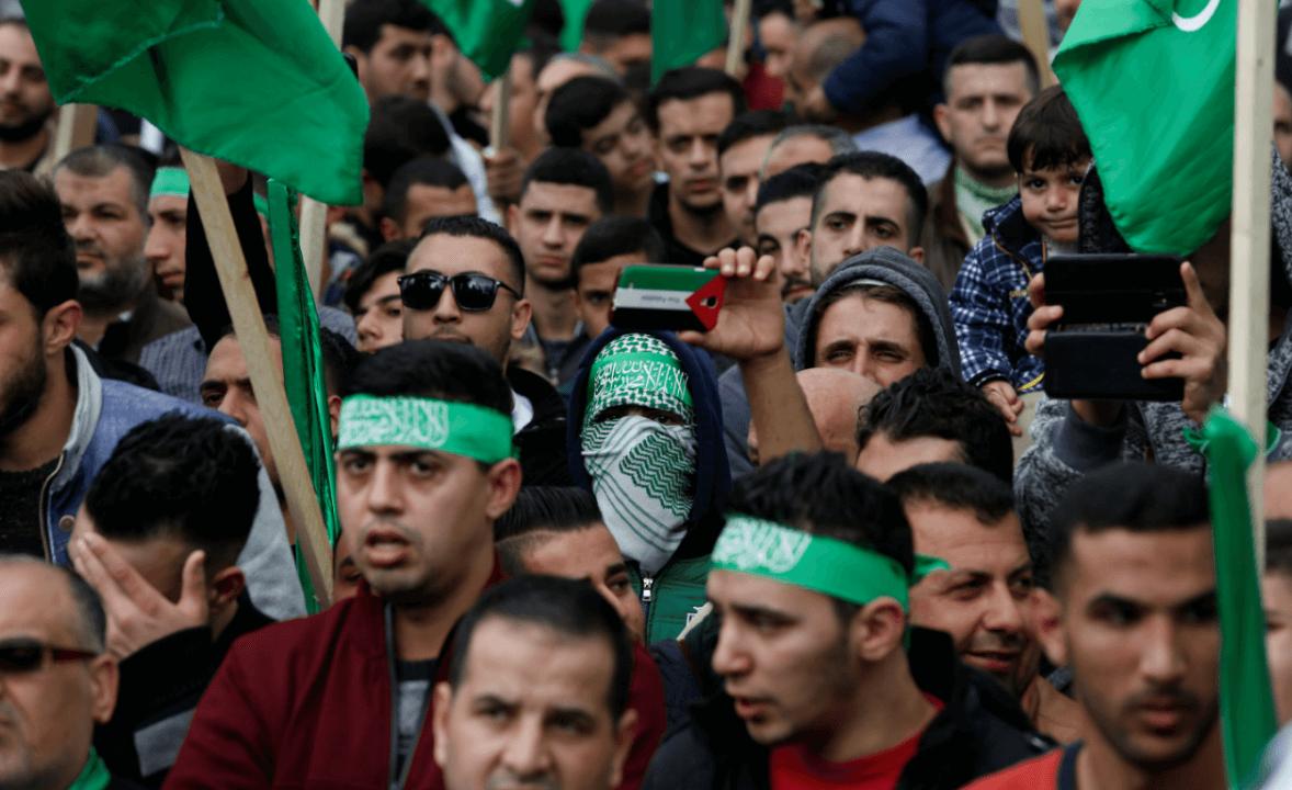Partidarios de Hamas duratne el 30 aniversario del movimiento islamista