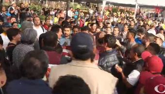 Se registra pelea entre seguidores del PRD y Morena en Coyoacán