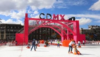 Pista de hielo en la Ciudad de México