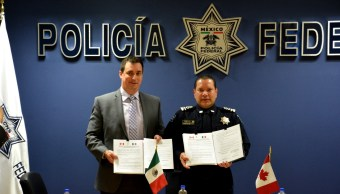 Policía Federal y Policía Real Montada de Canadá combatirán delincuencia