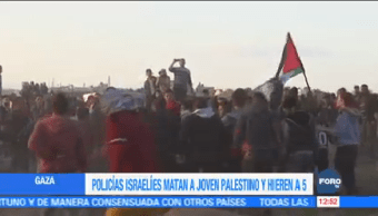 Policías Israelíes Matan Joven Palestino Franja de Gaza