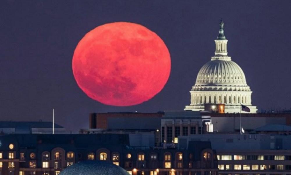 Super Luna, Luna Llena, Telescopio, Estrellas, Planetas, Luna