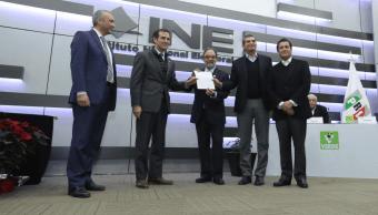 PRI Partido Verde y Panal registra coalición Meade Ciudadano por México
