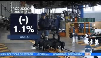 Producción Industrial Disminuye Octubre Inegi