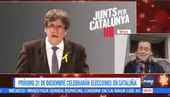 Próximo 21 Diciembre Celebrarán Elecciones Cataluña