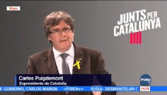 Puigdemont Llama Independentistas Permanecer Unidos