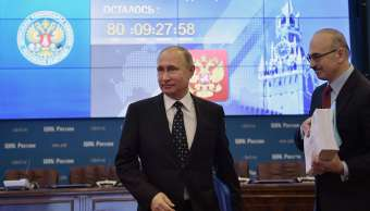 Putin acude personalmente a la comisión electoral para inscribir su candidatura presidencial