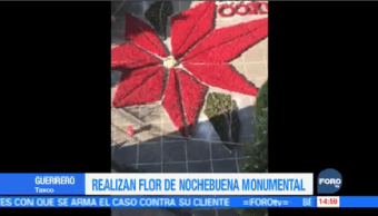 Realizan Flor Nochebuena Monumental Taxco