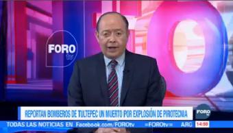 Reportan Explosión Pirotecnia Tultepec