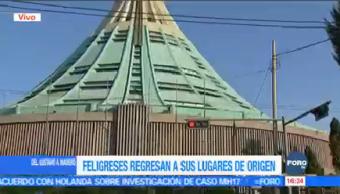 Sigue Arribo Peregrinos Basílica Guadalupe Templo Mariano