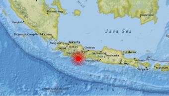 Sismo estremece a Indonesia., cerca de las costas de Java