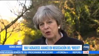 Theresa May Agradece Bueno Segunda Fase Negociación Brexit