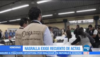 Tribunal Electoral de Honduras pospone escrutinio de actas