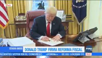 Trump Promulga Reforma Fiscal Donald