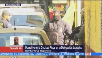 Unidades de Semar, Sedena y PGR se retiran de Iztacalco tras operativo