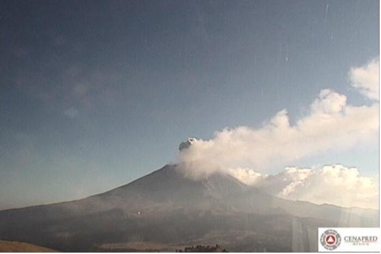 El Volcán Popocatépetl incrementa su actividad