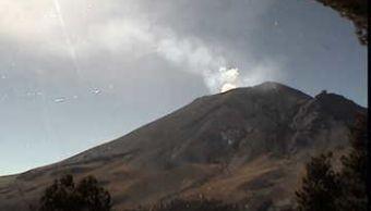 cenapred reporta exhalaciones del volcan popocatepetl