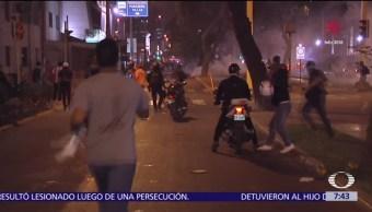 Peruanos protestan por indulto a Fujimori