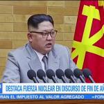 Corea del Norte destaca fuerza nuclear en discurso de fin de año