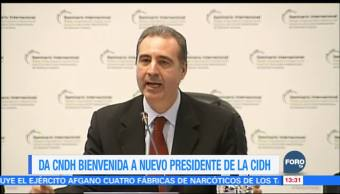 CNDH felicita al juez Eduardo Ferrer por asumir presidencia de la CIDH