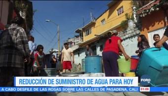 Suministro de agua potable se verá afectado por mantenimiento en Sistema Cutzamala