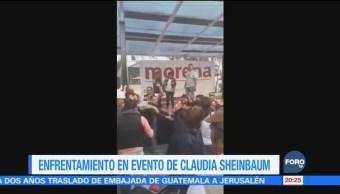 Se registra enfrentamiento durante evento de Morena en Coyoacán